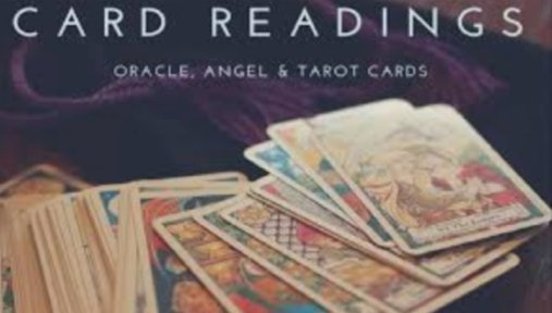 Deck of cards for angel and tarot card readings